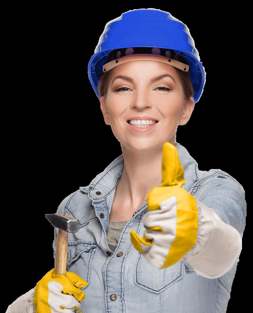 Bauarbeiterin von MARKAT Servicedienstleistungen Berlin